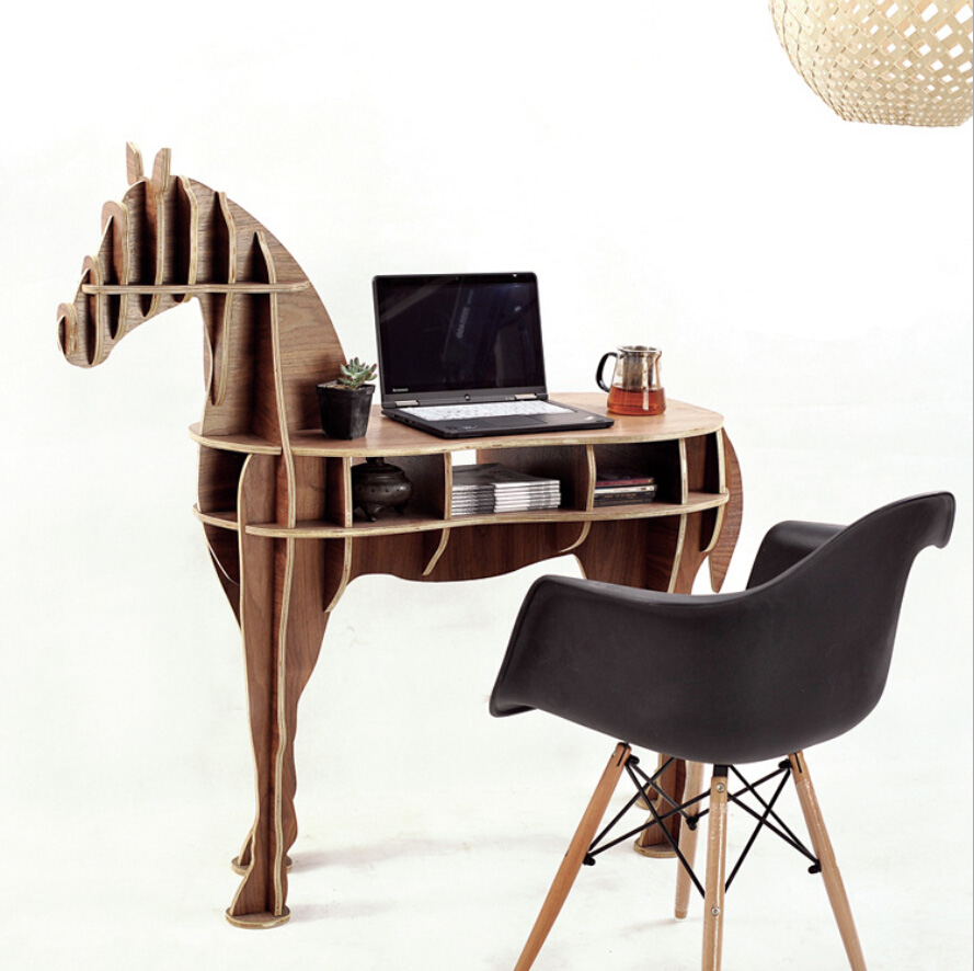 Webetop Creative Horse Tea Table Indoor Storage Bar Table Living Room Coffee Table Plywood Side Table Assemble Home Furniture(China (Mainland))