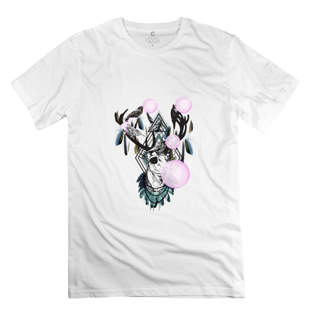 Fashion Short Sleeve Bubble Deer men t-shirt Unique men's tees shirt(China (Mainland))