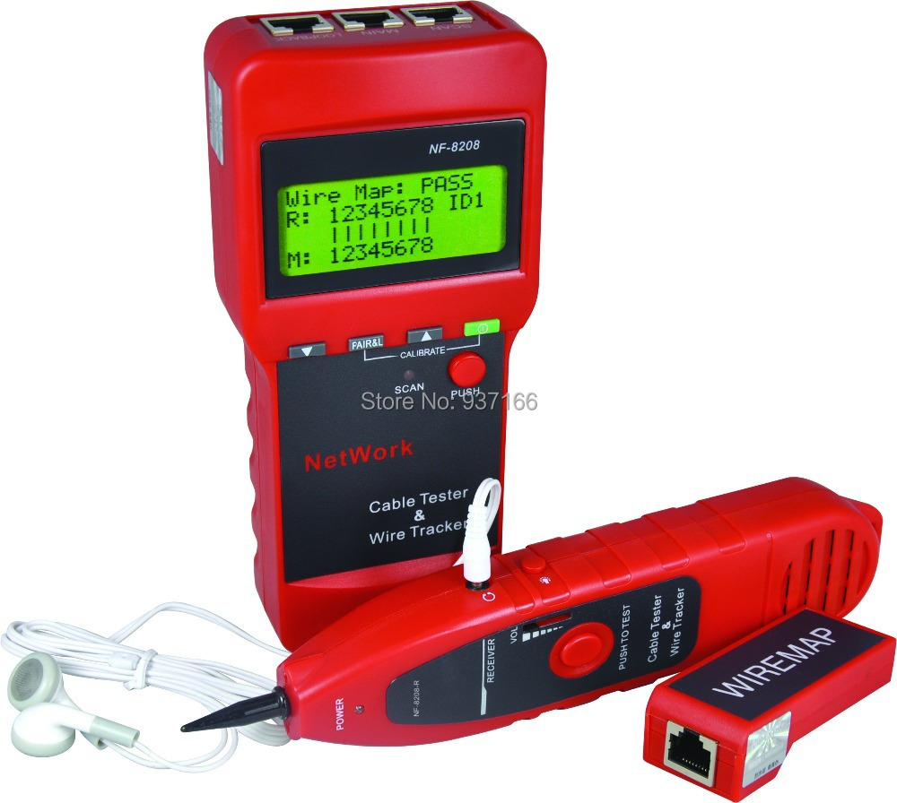Coax Fault Locator : Network cable length tester and lcd fault locator