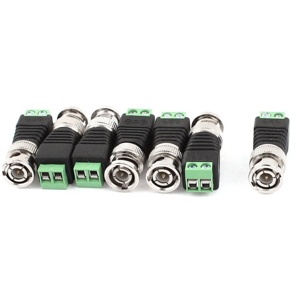20Pcs/lot Mini Coax CAT5 To Camera CCTV BNC UTP Video Balun Connector Adapter BNC Plug For CCTV System Free Shipping(China (Mainland))