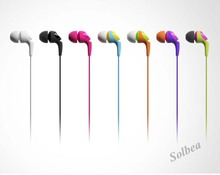 5PCS Colorful Blank sc-10e Canal 3.5mm Stereo In-ear earphone earbud headphones headset for HTC iPad iPhone Samsung MP3/mp4