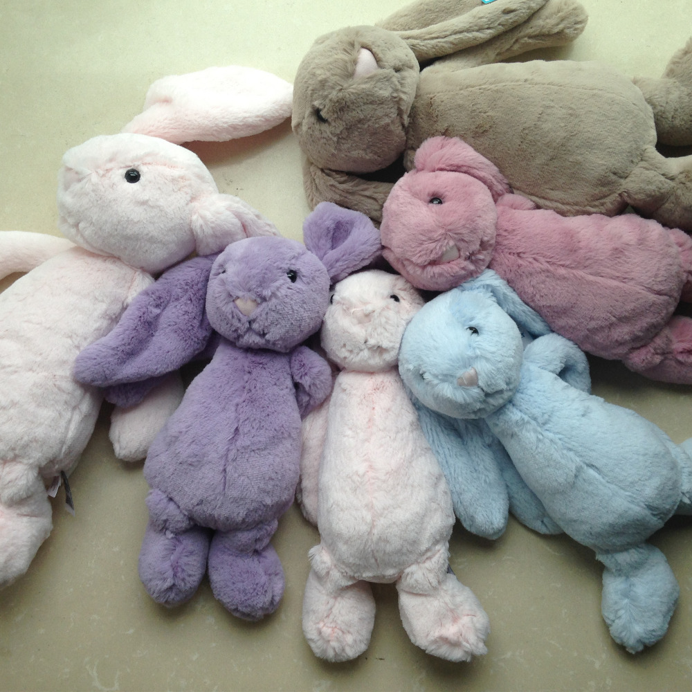 30cm/40cm super soft bunny stuffed plush toy stuffed rabbit baby toy dll birthday gifts long big ears rabbit toy kids toys Girls(China (Mainland))