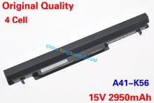 Korea Cell Original New A41-K56 Laptop Battery for ASUS K46 K46C K46CA K46CM K56 K56CA K56CM A41-K56 A32-K56 15V 2950mAh 4Cell