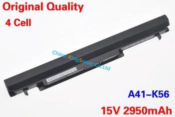 Корея Сотовый Оригинальный Новый A41-K56 Аккумулятор для ASUS K46 K46C K46CA K46CM K56 K56CA K56CM S46C S56C A32-K56 A42-K56 15 В 2950 мАч