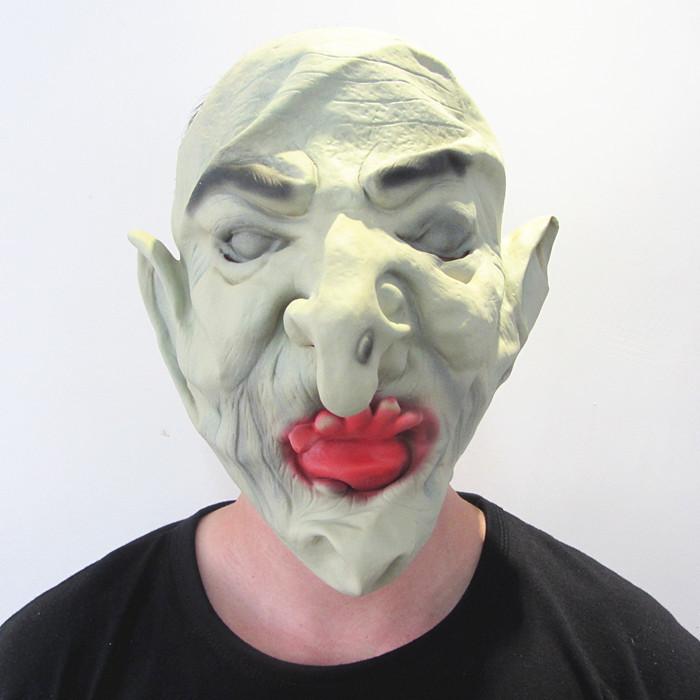 Horror Hell Soldier Masks for Adult High Quality Green Demon Monster Mask for Festival Party Bar ML011(China (Mainland))