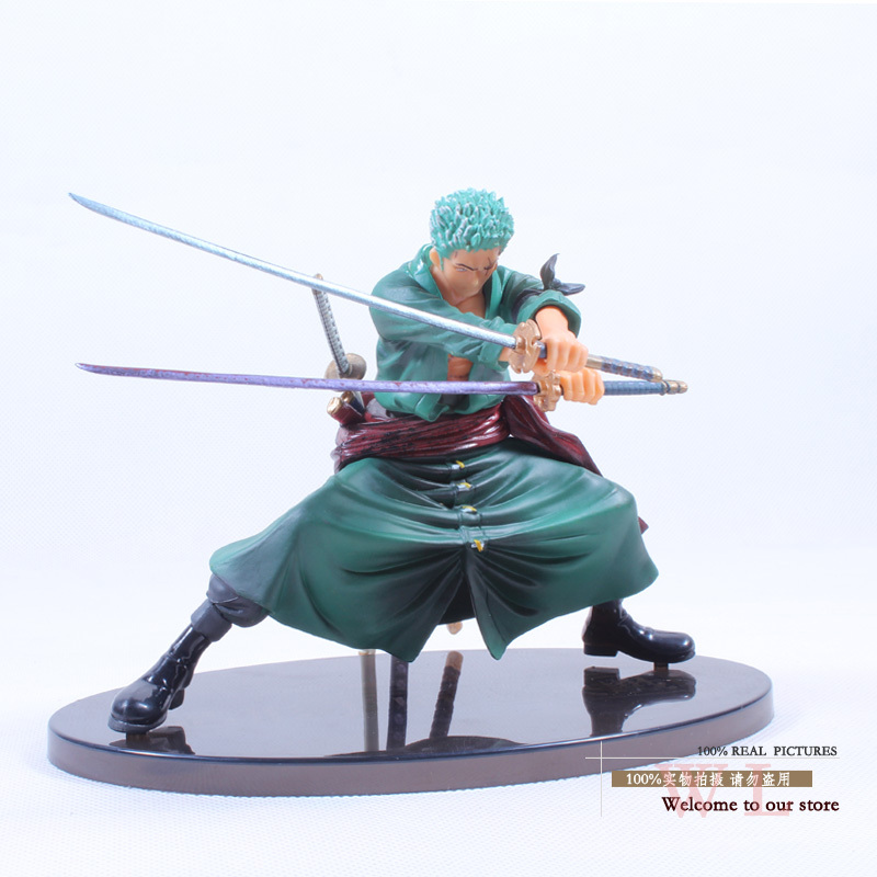 Free Shipping Cool Decisive Battle Version One Piece Roronoa Zoro PVC Figure Toy PVC Action Figure Collection Model Toy OPFG130(China (Mainland))