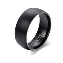 Fashion Men Titanium Ring High Quality Black Titanium Wedding Rings For Men And Women(China (Mainland))