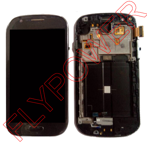 lcd with digitizer with frame assembly For Samsung GALAXY EXPRESS I8730 by free shipping