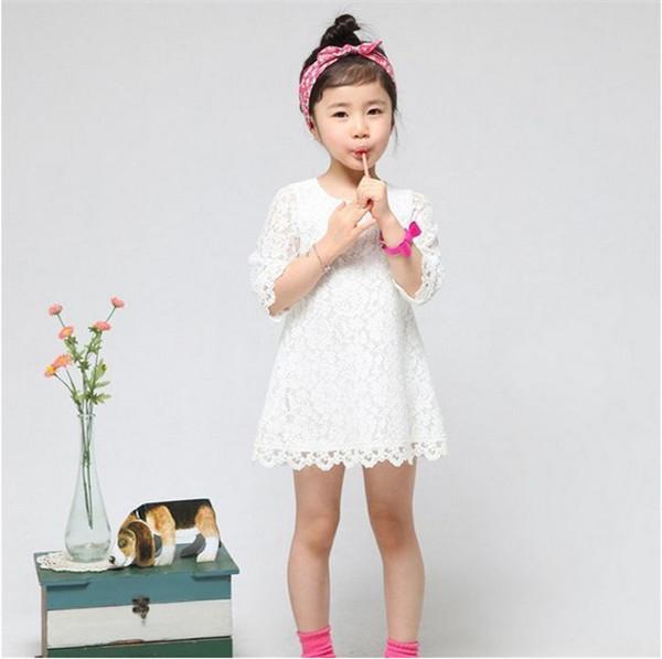 Гаджет  Hot sale! 2014 New Fashion Korean Children Clothing Beautiful White Girls Lace Dress Princess Dresses Kid Baby Clothes None Детские товары