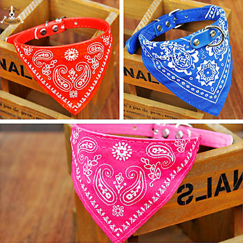 7 Colors Optional Adjustable Pet Dog Collar Scarf Puppy Cat Bandana for Dogs Decoration Neckerchief Paisley Particular Custom(China (Mainland))