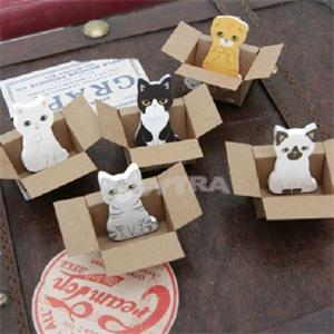 2014 New Cute Cat Memo Pads Easy Post It Sticky Notes Portable School Supplies Self-Adhesive Memos(China (Mainland))