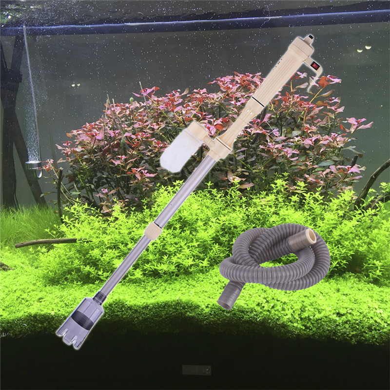 Aquarium Gravel Cleaner Battery Powered Fish Tank Vacuum Syphon Siphon Cleaner Pump Water(China (Mainland))