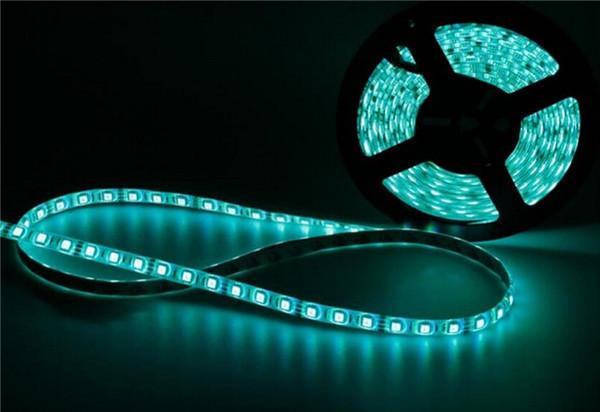 LED Strips 5M/Set RGB 5050 60 LED Lights/M LED Light Strip Waterproof 12V Flexible Light Rope for Outdoor Indoor Decoration(China (Mainland))