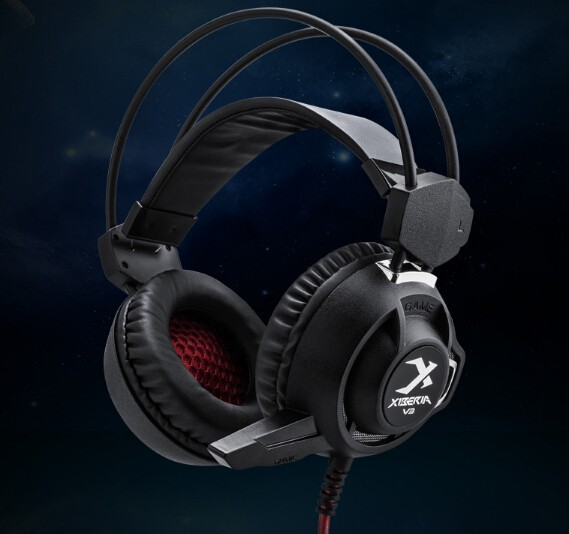 Black color pc gaming headphones for gaming(China (Mainland))