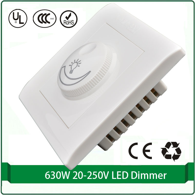Free shipping Silicon controlled rectifier dimmer switch 110V 220v Max 300W led dimmer light wall switch dimmer(China (Mainland))