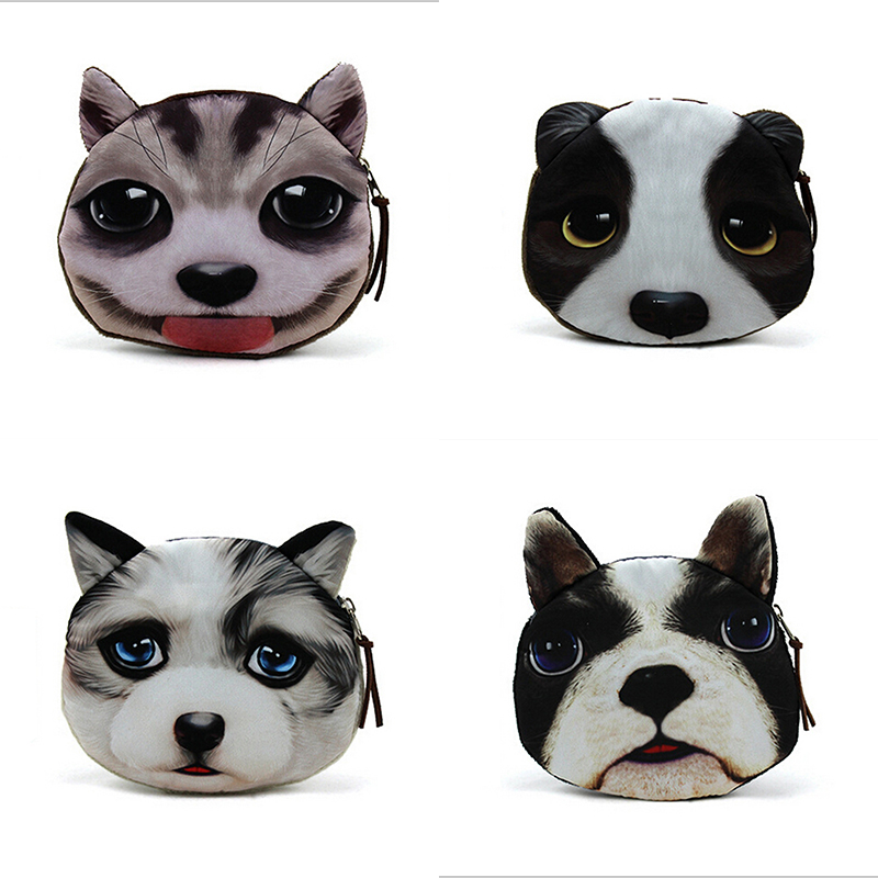 2015 New Cute Portable Cartoon Bag Change Coin Purse Case Plush Purse Handbag Lady Girl Wallet