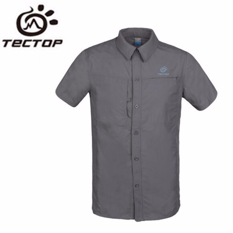 TECTOP Summer Outdoor Fast Drying Shirts Unisex Casual Sports Hiking Camping Clothing Sun Protection Couples Short Shirts<br><br>Aliexpress