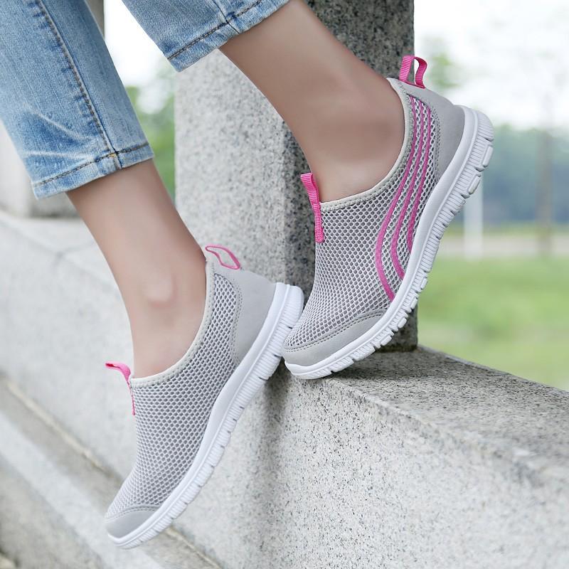 Fashion Women Casual Shoes Summer Light Air Mesh Sapato Feminino Women Shoes Zapatillas Mujer Size 36-41