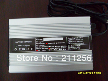 Free Shipping!! 48V 10Ah lithium battery charger 48v 2A intelligent battery charger+2 YEARS WARRANTY
