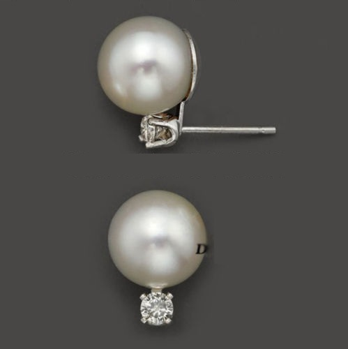 PERFECT 10-11 MM AAA+++ WHITE AKOYA PEARLS EARRING box(China (Mainland))