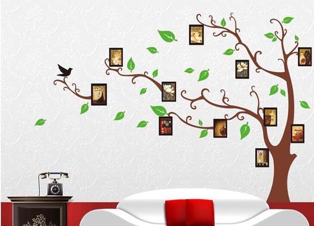 120 * 170 см 3D DIY дерево стены наклейки фото семья настенные фрески искусства декора дома семьи картина для гостиной спальня отличительные знаки