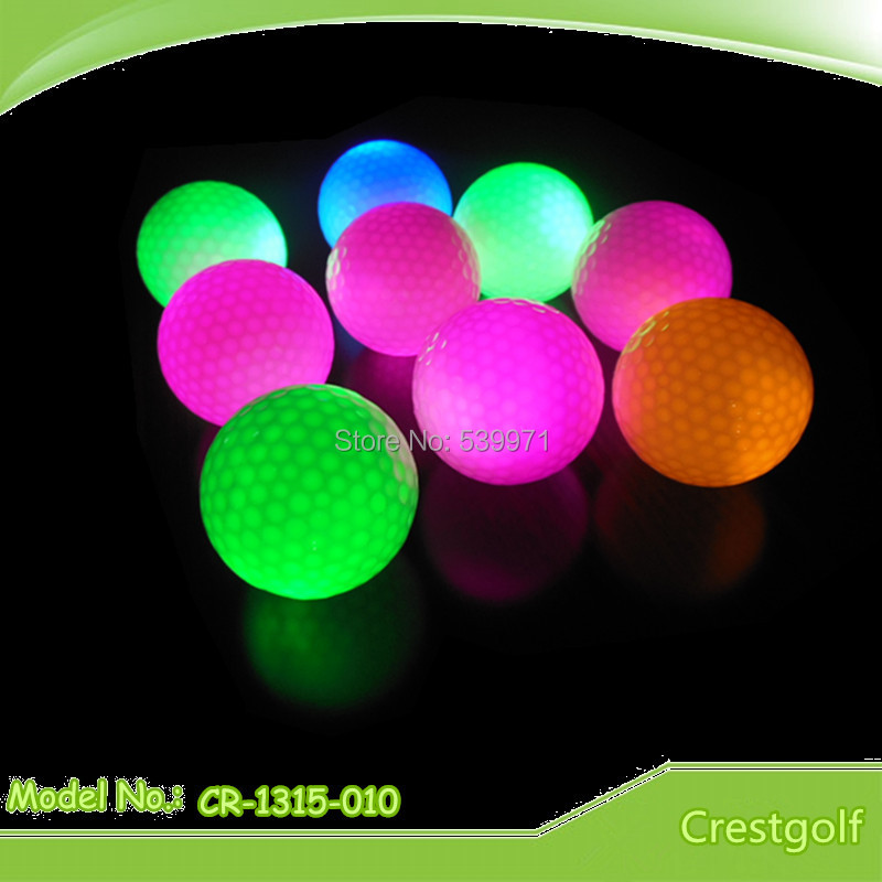 Free Shipping 2015 Hot Products Constant Shining 100pcs LED Golf Balls With Colorful Night Training Golf Ball(China (Mainland))