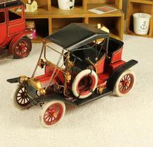 Metal car model vintage iron handmade FORD fordt decoration webworm gift(China (Mainland))