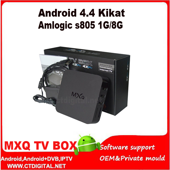 1pc Amlogic S805 Quad Core KODI MXQ TV Box Android 4.4 OS H.265 Support Wifi LAN Miracast Airplay HDMI 1G/ 8G ROM Free shipping<br><br>Aliexpress