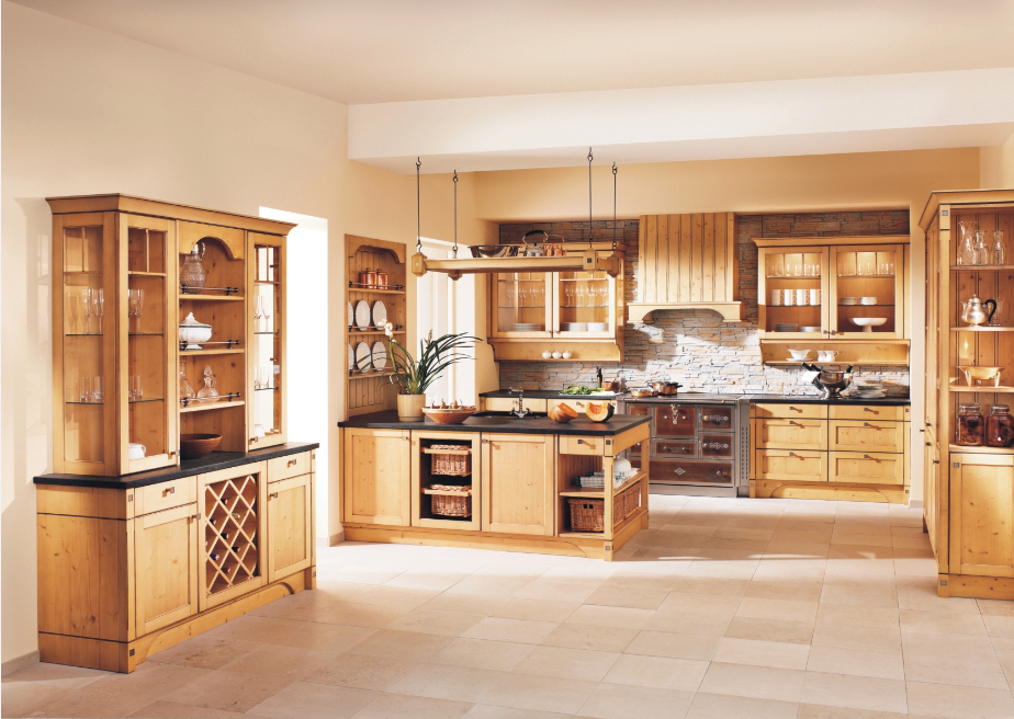Solid Wood Cabinets Kitchen