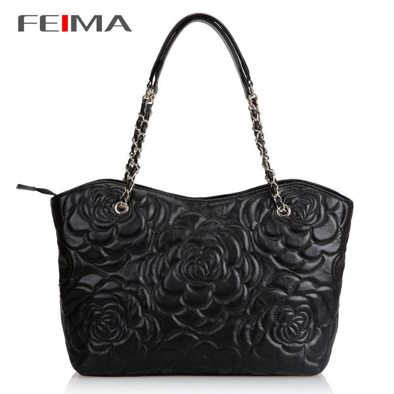 Women Messenger Bags Genuine Sheep Leather Bags Quilted Chain Women Leather Handbag Casual Shoulder bags Ladies Crossbody Bag