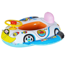 1 Pc Children Safe Inflatable Float Boat Toys Baby Cute Cartoon Car Pattern Swimming Pool Kids Fun Water Sports Game Summer Gift(China (Mainland))