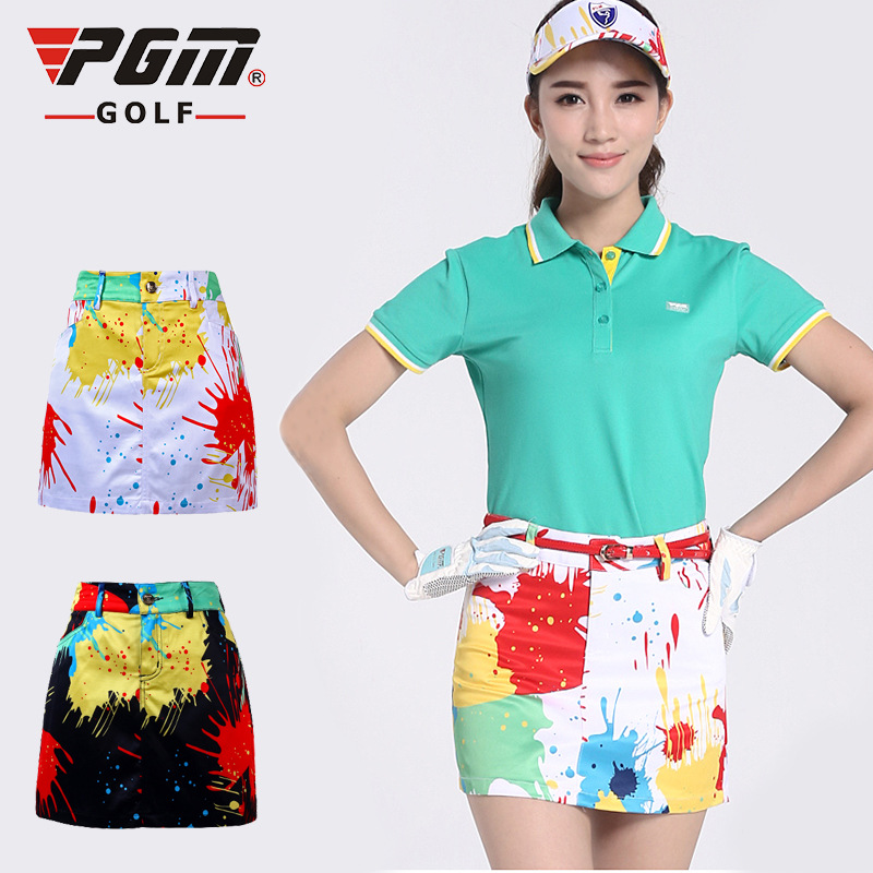 New Arrival PGM Golf Shorts Skirt Summer high quality Print Ladies Golf Safety Step Pencil Package Hip skirt Sport Multicolor(China (Mainland))