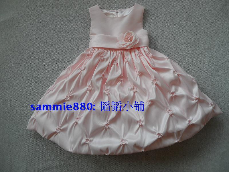New arrival petals small powder female child princess dress child one-piece dress princess dress baby formal dress<br><br>Aliexpress