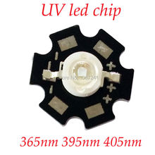 30PCS UV Diode 3W 390NM 395NM 400NM LED Ultraviolet LED Chip UV high Quality Free Shipping