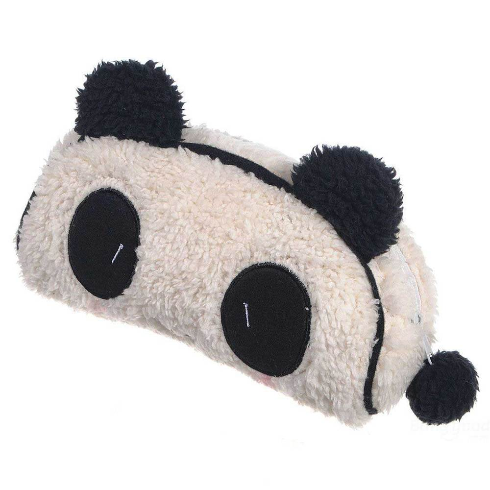 Alidder Panda Soft Plush Pencil Case Pen Pocket Cosmetic Makeup Bag(China (Mainland))