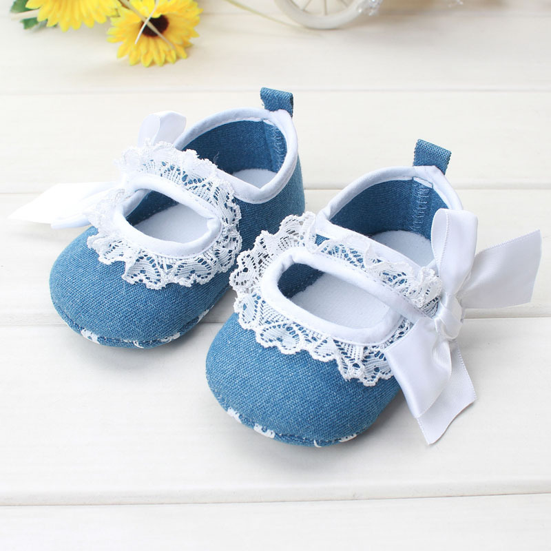 Hot Selling Spring Sweet Baby Girl Shoes Newborn Kids Prewalker Princess Mary Janes White Flower Soft Soled Anti-slip Footwear(China (Mainland))