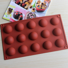 Creative DIY 15 even dome silicone cake mold chocolate mould pudding mold CDSM-268(China (Mainland))