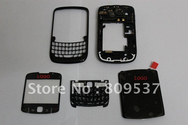 cell phone full housing cover with middle part speaker mic For 8520 original new(China (Mainland))