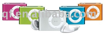 1PCS wholesale and free shipping Clip Mini MP3 Player support Up To TF Card with ip-earphonne