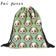 Buy New Fashion Unisex dog Emoji 3D Printing Bags Drawstring Backpack Dec 14 for $2.76 in AliExpress store