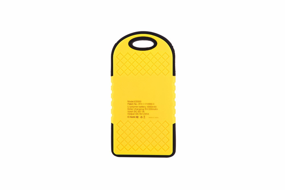 Solar Charger 5000 Mah Duble USB Portable Solar Power Bank External Battery For Phone Solar Panel waterproof Backup Power Supply