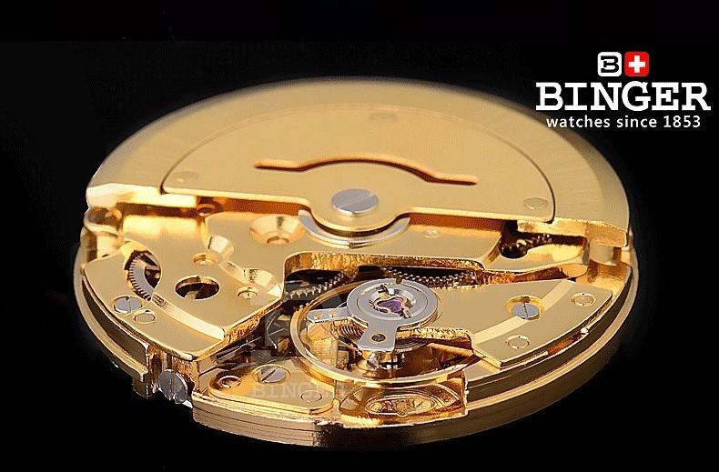 Женева, Швейцария бингер Натуральной Кожи Класса Люкс Мужчины Часы Хронограф Функция Мужчины Лучший Бренд Военные Часы Relogio Masculino