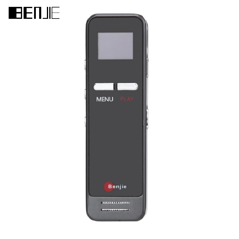 BENJIE Metal Digital Voice Recorder Voice Smart Noise Reduction Operated Recording Loudspeaker Stereo Dual MIC MP3 Music Player(China (Mainland))