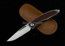 Envío gratis OEM de la alta calidad Chris Reeve CR colección aleación de titanio cuchillo mango de madera rescate del cuchillo de bolsillo herramienta cuchillo que acampa