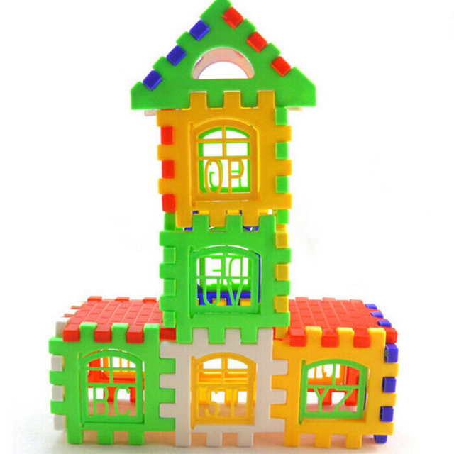 Hot! 24Pcs House Building Blocks Baby Children Bricks Set ...