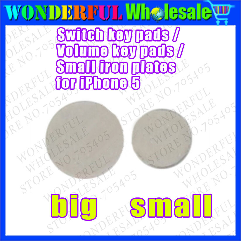 Switch key pads /Volume key pads /Small iron plates for iPhone 5(China (Mainland))