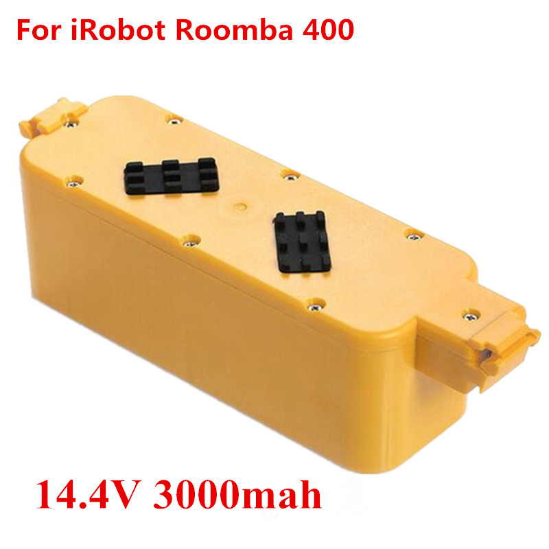14.4v 3000mah NI-MH For iRobot Roomba 400 replacement vacuum battery pack for iRobot 405 410 415 4232 4130 4150 4170 4188 4210(China (Mainland))