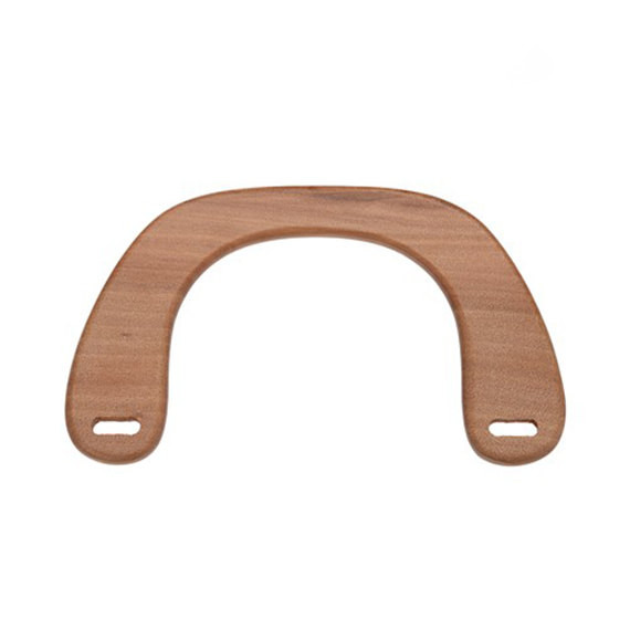 "Free ShippingChina Factory Supplier Bag Accessories Wooden Bag Handle 6 1/2""x3 3/4"" Solid Wooden Light Brown Wooden Purse Handle(China (Mainland))"