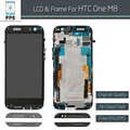 Free DHL 10pcs lot New Original LCD With Frame for HTC One M8 LCD display Touch