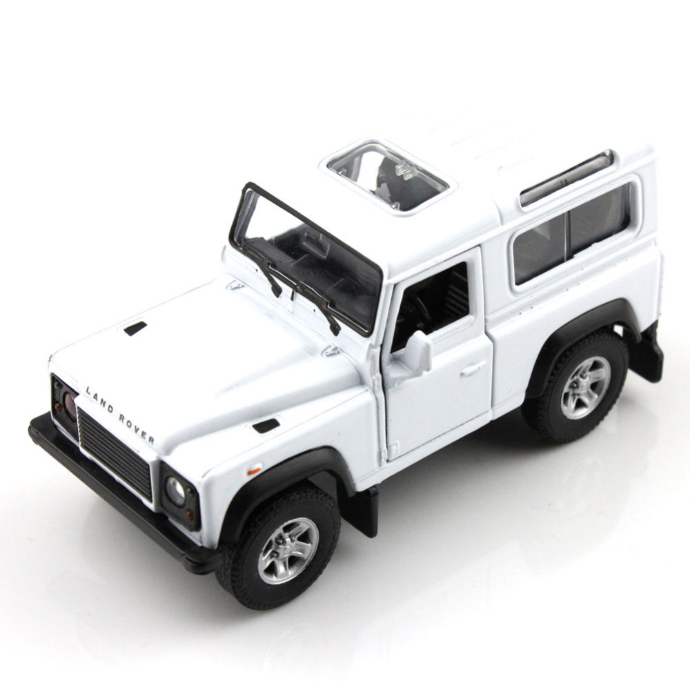 WELLY 42392CW Rover Defender White 1/34-39 Scale Diecast Vehicles Model Car Pull Back Toys for Collection Best Gift(China (Mainland))